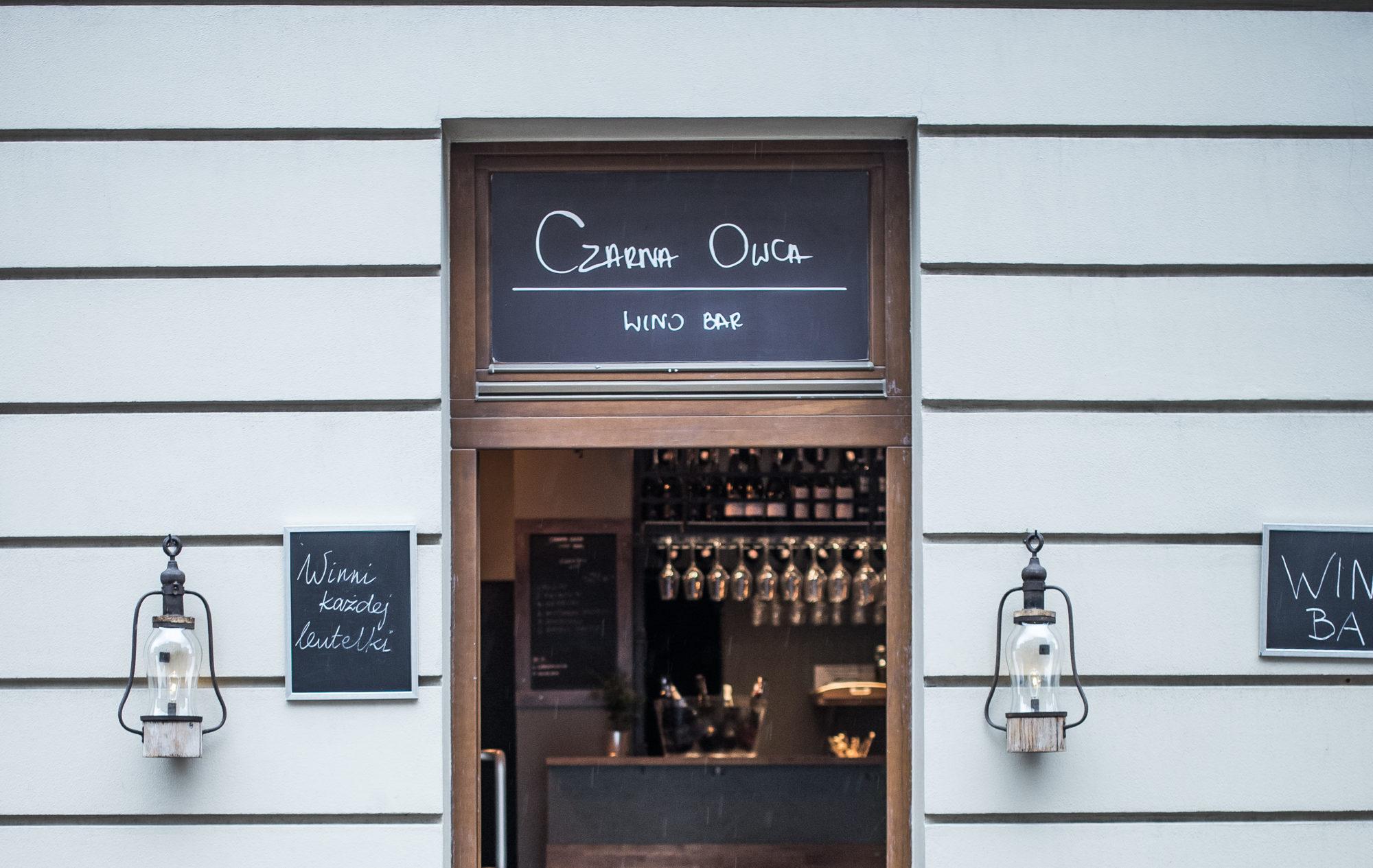 Czarna Owca • Wino Bar • Dajwór 20 • Kraków
